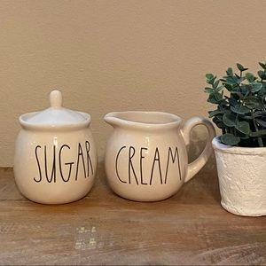 Rae Dunn Sugar and Cream Set